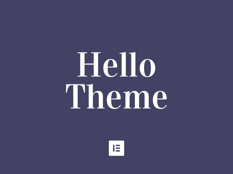 elementor hello theme master