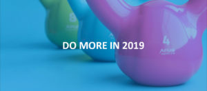 "kettlebells with ""do more in 2019"" text"