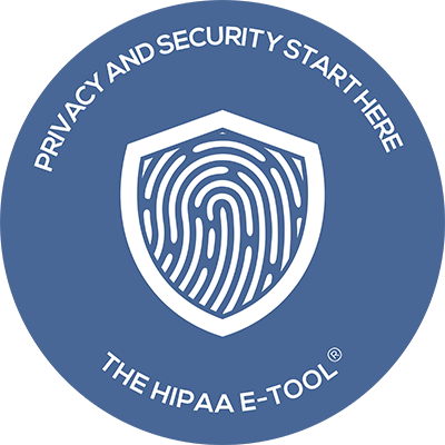 round HIPAA E-Tool Sticker
