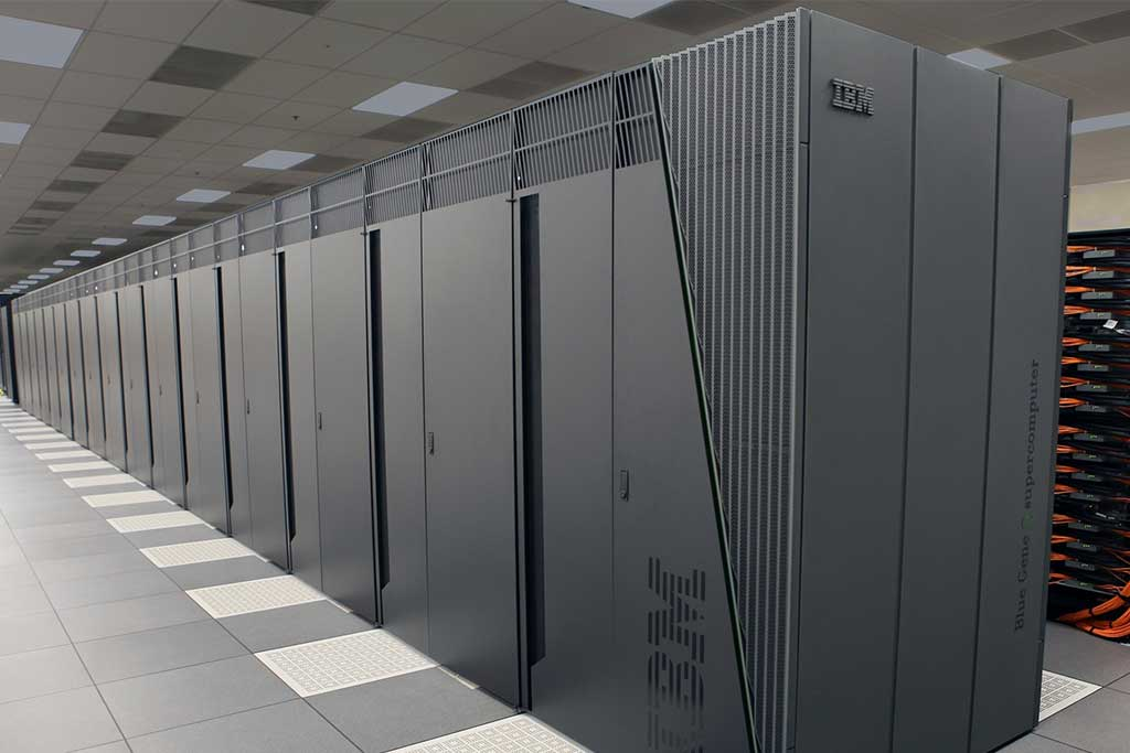 Large servers at data center