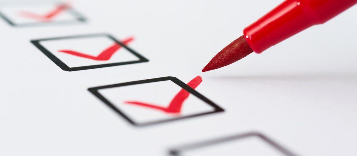 security rule checklist